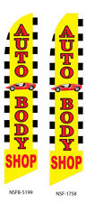 New listing Auto Body Flutter Feather Flag Swooper Advertising Sign Ba