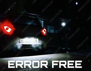 For Corsa C D VXR 06-11 Xenon White LED Number Plate Light Bulbs Upgrade Canbus