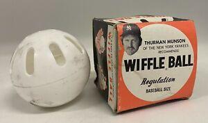 Vintage 1970's Thurman Munson Endorsed Wiffle Ball w/ Original Box NY Yankees