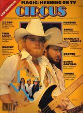 ZZ Top Farrah Fawcett Charlie's Angels Ted Nugent Circus Magazine Dec 30 1976