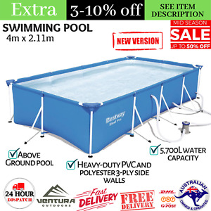 Bestway 4m x 2.11m Steel Pro Above Ground Frame Swimming Pool with Filter Pump