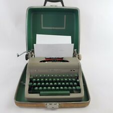 BEAUTIFUL Royal Quiet Deluxe Portable Typewriter & Case 1950s WORKS GREAT!