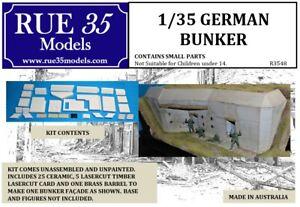 1/35 Rue35 GERMAN WW2 BUNKER Diorama Accessory