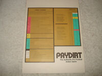 VINTAGE 1980 SPORTS ILLUSTRATED PAYDIRT CHART GAME PART AVALON HILL