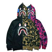 Japan Zip Aape Jacket Men Bape Shark Head MA1 Army Flight Bomber Coat Camouflage