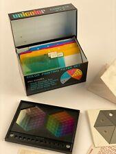 Vintage Unicolor Color Printing Filter Set Camera Darkroom Photography Enlarger
