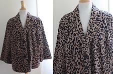 Linea Louis Dell'Olio Sz 2X -Gorgeous Brown + Black Animal Leopard Print Jacket