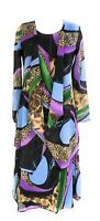Ladies Missy Size Printed Two Piece Duster Jacket Dress Sets Sizes S-M-XL NWT.