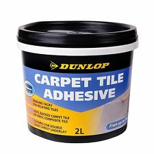 Dunlop CARPET TILE ADHESIVE 2L Water Based, Pressure Sensitive *USA Brand