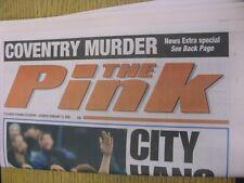 12/02/2000 COVENTRY evening Telegraph il rosa: principali titolo recita: Città Hang o