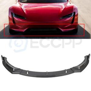 Fits 2017-2021 Tesla Model 3 Carbon Fiber Style Front Bumper Lip Spoiler