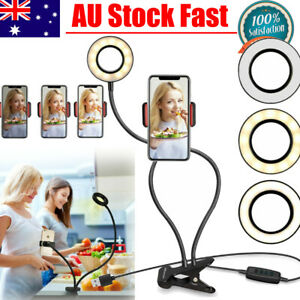 Portable Dimmable Selfie Ring LED Ring Light Diffuser Make Up Studio Video AU