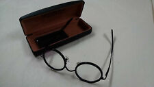 New Retro/ Vintage  Clear Lens Black Metal Frame Women Men Eyeglass