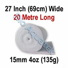 20 Metre / 20m Dacron Aquarium Pond Filter Media Floss Wool Wadding - 15mm / 4oz