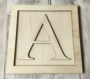laser cut wooden alphabet letters in Toy Story theme - available in 3 sizes
