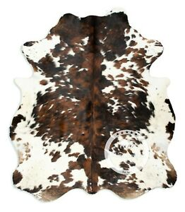 Cowhide Rug - Exotic Tricolor High Quality Hair on Hide Size: Medium (M) K86
