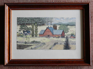 """Susan Hunt Wulkowicz - LATE SUMMER Limited Edition 136/300 frame = 9.5"""" x 12.75"""""""