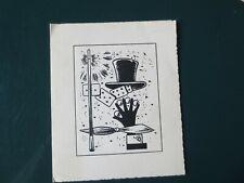 """Carte Invitation en noir et blanc """"la magie"""""""