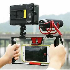 Smartphone Video Cage Handheld Rig 49 LED Light Lamp Boya By-mm1 Microphone