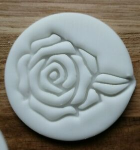 Rose Stamp Embossing cupcake and cake - stamps fondant Flower England Rugby