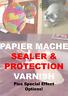 Clear Dry Satin Papier Mache Match Stick Miniature Model Varnish Sealer Glue