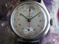 Nicolet Telda Vintage Stainless Steel Chronograph Wrist Watch, Venus 170