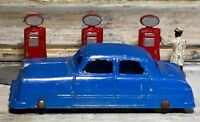 "VTG '49 Diecast TOOTSIETOY 3"" Ford 4-Door Sedan Blue Body (BRW)"
