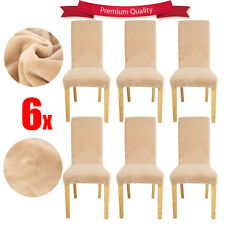 6x Super EASY Fit Dining Chair Covers Stretch Short Cover Protector Removable AU