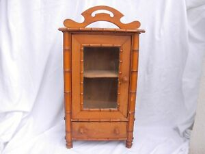 ANTIQUE FRENCH WOOD DOLL FURNITURE,FAUX BAMBOO,EARLY 20th CENTURY.