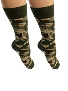 New Adult Men Camouflage Print Ankle High Socks Casual Fancy Dress Wear UK