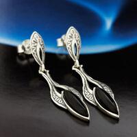 Onyx Silber 925 Ohrringe Damen Schmuck Sterlingsilber S226