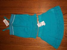 THE CHILDREN'S PLACE GIRLS 6-9 MONTHS OUTFIT NEW WITH TAG BLUE TANK AND SKORT