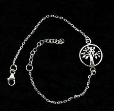 Bracelet arbre de vie-tree of life-argent Massif  925-1.5g-180 mm-TK69 10133