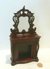 "BESPAQ  MINIATURE /""ANTOINETTE/""  MIRROR   2679 UF UNFINISHED WOOD"
