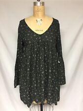 e96361a5c4fe2 Denim and Supply Ralph Lauren Black Multi Floral-Print Bell-Sleeve Dress NWT