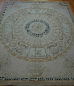 AUBUSSON HAND-WOVEN WOOL FLAT WOVEN CHINA ORIENTAL RUG HAND WASHED   8 x 10
