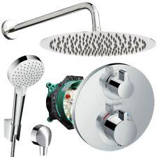 Unterputz Duschsystem mit Kopfbrause Ø300 mm, Hansgrohe Ecostat S Thermostat Bad