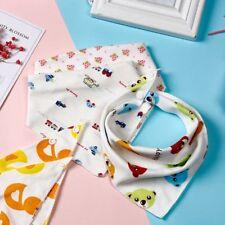 Fashion Feeding Triangle Scarf Baby Infant Soft Cotton Bibs Color Randomly 10 Pcs