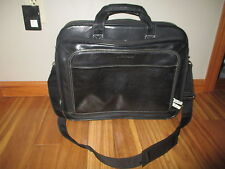 Samsonite Leather Expandable Business Case Black Leather