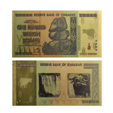 1PC Zimbabwe 100 Trillion Dollars Imitation Gold Bill Plastic Money Collection
