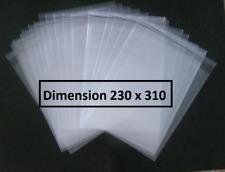 50 POCHETTES PLASTIQUE PROTECTION BD BANDE DESSINEE 230 X 310 (BD format A4)