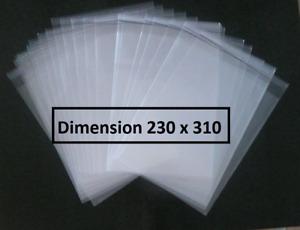 50 POCHETTES PLASTIQUE PROTECTION BANDE DESSINEE BD 230 X 310 format A4