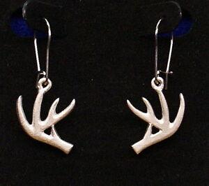 Deer Antler Jewelry Silver Deer Antler Horn Earring hunting wife deer head heart jewelry Christmas gift for hunter Horn Jewelry