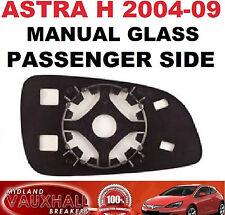 ASTRA H MK5 MANUAL WING MIRROR GLASS PASSENGER NEAR LEFT SIDE CLUB LIFE VAN CDTI