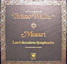 BRUNO WALTER/COLUMBIA SYMPHONY ORCHESTRA les 6 dernieres symphonies MOZART 3LP'S