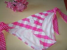 LA SENZA oversize check bikini BRIEF SIZE 10 PINK WHITE TIE SIDE RRP £12