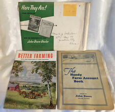 Vintage 1936 BETTER FARMING with JOHN DEERE Farm Equipment & Handy Account Book