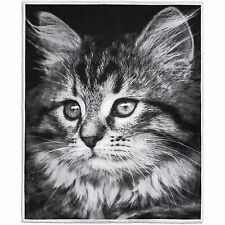 Boutique Collection Photoreal Velvet Plush Cat Throw/ Blanket W/ Sherpa Reverse