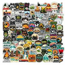 100 Camping Skateboard Stickers Bomb Vinyl Laptop Luggage Decals Dope Stickers