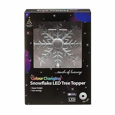 Colour Changing Snowflake Christmas LED Tree Topper Xmas Decorations Star New